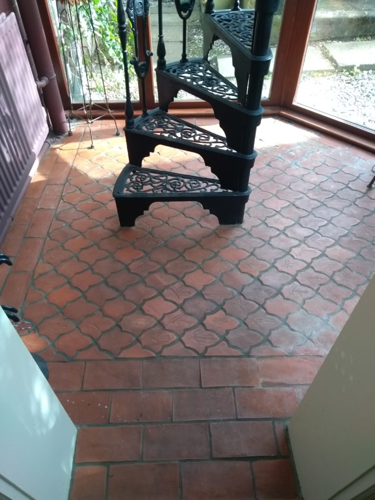 Terracotta floor cleaning and restoration bishops tachbrook
