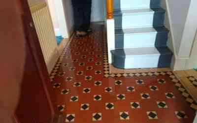 Victorian Minton Floor Cleaning and Sealing in B46 Coleshill Birmingham West Midlands